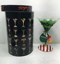 Lolita martini glass Tipsy Christmas Rare Retired Gift