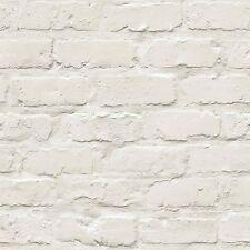 Ideco Home blanco papel pintado ladrillo A10402