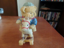 Resin Teddy Bear Figurine-Teddy On A Rocking Horse #1286