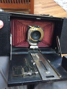 Vintage Large Kodak red bellows camera for restoration.