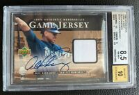 2000 UPPER DECK ALEX RODRIGUEZ AUTOGRAPH GAME USED JERSEY SEATTLE MARINERS BGS