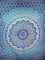 Blue Indian Hippie Mandala Tapestry Wall Hanging Psychedelic Bohemian Wall Decor