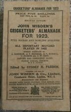 1923 WISDEN CRICKETERS' ALMANACK  PAPER WRAPPERS - GOOD/VERY GOOD CONDITION