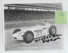 ~CLIFF GRIFFITH (dec '96) SIGNED 1961 Indy 500 8X10 Qualification Photo~