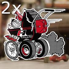 2x Stück Hurst Kinderwagen Sticker Old School Hot Rod Aufkleber Autocollante