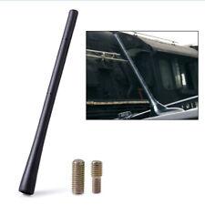 "1set 8"" Universal Black Short Stubby Mast Car Truck AM/FM Antenna Aerial +Screws"