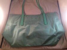 Tumi Green Nylon Travel Leather Trim Shopper Q-Tote Handbag Bag Purse