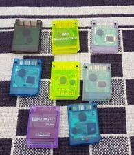 1x Playstation PS1 - Memory Card 1MB 15 Block verschiedene Hersteller und Farben