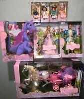 Barbie Rapunzel Set 2001 Barbie Ken Kelly x4 Penelope Botticelli & Carriage NRFB