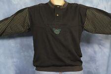 Vtg 80s 90s Sweatshirt Today's News Black Forest Army Green Hip Hop Street Wear
