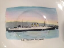 SS Princess Elizabeth Souvenir Plate Made In England by Collingwoods