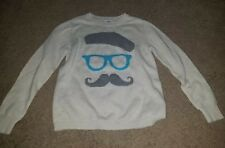 Girl's Old Navy adorable mustache sweater Sz 14 (pre-owned)