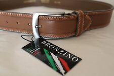 Bronzino DESIGNER  Genuine PREMIUM LEATHER  men's BELT Made In Italy  Size 32