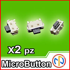 2X Micro pulsante SMD 2x4x3.5 Push Button NA ricambio tablet,cellulari,actioncam