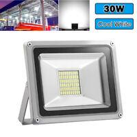 1X 30W LED Flood Light Cool White Spotlight Outdoor Garden Security Lamp DC 12V