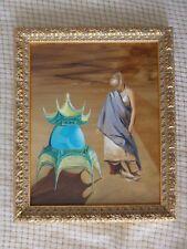 "Original Surrealism Painting, ""Cassini"" 8x12 inch oil painting"
