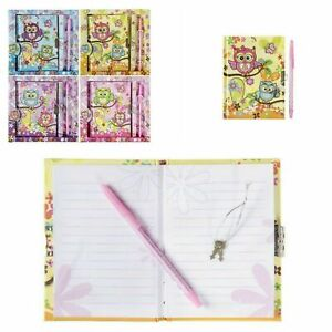 Kinder Tagebuch Eule mit Schloss Poesiealbum Kindertagebuch Geschenkidee