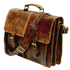 Vintage leather bags briefcase Sora messenger brown laptop satchel eco-friendly
