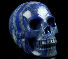 "Gemstone 5.0"" LAPIS LAZULI Carved Crystal Skull, Realistic, Crystal Healing"