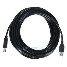 25FT/8M USB 2.0 A TO B Male M/M HIGH SPEED PRINTER/Device CABLE CORD BLACK