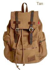 Vintage Retro Canvas Backpack Travel Sport Laptop Satchel Hiking School Bag