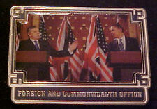 BARACK OBAMA FOREIGN & COMMONWEALTH WILLABEE & WARD COMMEMORATIVE SERIES PIN