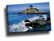 Battery Point Lighthouse, Crescent City, California Canvas Framed Picture
