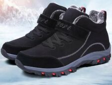 Mens military boots outdoor winter warm round toe casual sports snow boots shoes