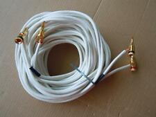QED Audio Products LTD SPEAKER CABLE-6.52 Meters With 4 New Plugs-High Quality