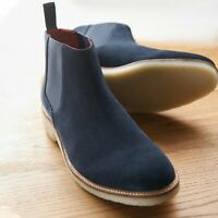 Samuel Windsor Mens Chelsea Boots Suede Crepe Soled Slip On Shoes UK Size 5-14