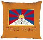 (09179 orange) Coussin décoratif 40 x 40 cm Coussin avec remplissage Free Tibet