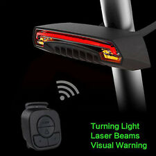 2 Laser Bicycle Tail Light Turn Signals Automatically Control Wireless Remote