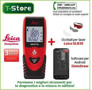 Misuratore Laser Leica Disto D1 + Occhiali GLB30 e Sw DistoDraw -FATTURABILE--