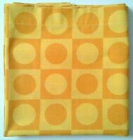 Vtg. TEXMADE Truprest Twin Flat Bedsheet Concord Gold/Yellow Circles Squares