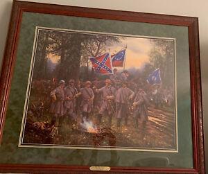"John paul Strain ""The War Council"" S/N Print With COA Professionally Framed"