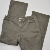 Chico's Platinum size 2 Short Women's Jeans Bootcut 12 Short Green Stretch Denim