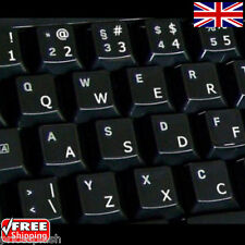 English US Transparent Keyboard Stickers with White Letters for Ordinateur Portable