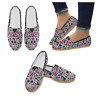 Sugar Skull Pattern Lightweight  Slip-on Canvas Women's Casual Flats Shoes
