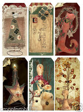 CHRISTMAS PRIMITIVE COUNTRY (32) SCRAPBOOK CARD EMBELLISHMENTS HANG/GIFT TAGS