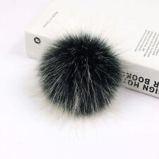 10CM/12CM Faux Fur Pom pom bobble Handmade Pompom for Hat Bag Clothes DIY YB