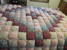 HANDMADE Queen PUFF Comforter Quilt 4-peice Set