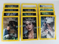 VINTAGE Lot of 12 Jan to Dec 1995 National Geographic Magazines.1 year Complete