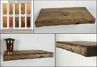 Rustic Floating Shelves Wax Finish Wooden Shelf Handmade Various Sizes Colours