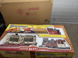 BACHMANN G SCALE CIRCUS ROUSTABOUT TRAIN SET #90194 COMPLETE  EXCELLENT/LN