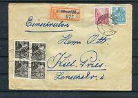 Einschreiben DDR MiF von Roßlau nach Kiel - b1521