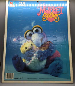 1984 Jim Henson's Muppet Babies 25 Piece Gonzo Puzzle