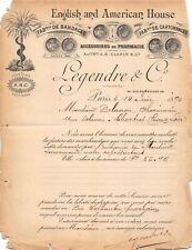 ENGLISH AMERICAN, HOUSE FAB DE BANDAGE ACCESSOIRES DE PHARMACIE à Paris 1890