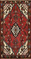 Vintage Hamedan Floral Classic Area Rug Hand-knotted Wool Oriental 3'x4' Carpet