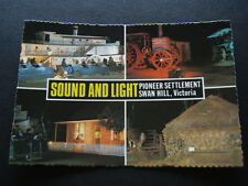PIONEER SETTLEMENT SWAN HILL VICTORIA SOUND AND LIGHT POSTCARD