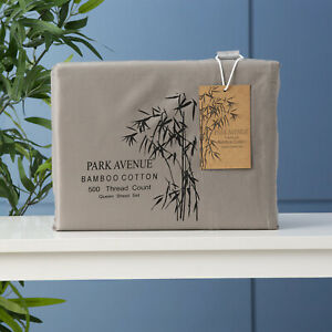 500 TC Bamboo Cotton Park Avenue Sheet Set Pewter